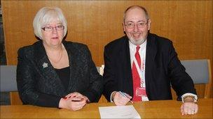 Councillors Mary Clarke and Barry Wood