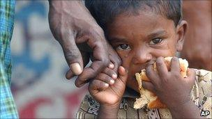 Sri Lankan child after the 2004 tsunami