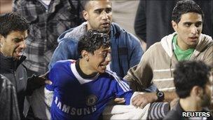 Fans at the Amman stadium