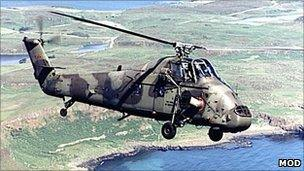 Wessex helicopter. Pic: Ministry of Defence