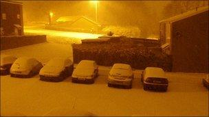 Snow in Cwmbran