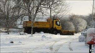 Gritter in Northumberland