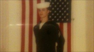 Bobby Davis as a naval recruit