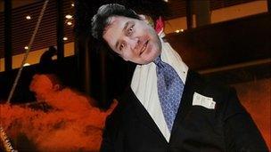 Nick Clegg effigy
