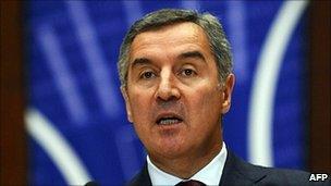 Montenegro PM Milo Djukanovic
