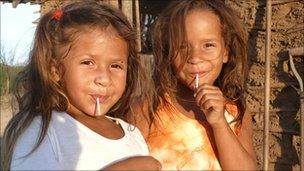 Children in the Xucuru community