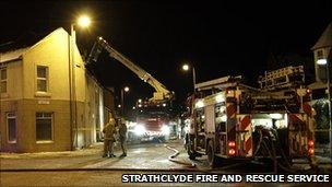 Fire crews/Pic: Strathclyde Fire and Rescue Service
