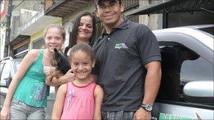 Francisco de Souza with his family