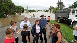 Queensland Premier Anna Bligh in Bundaberg, Australia