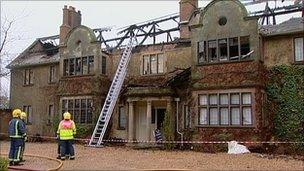 The fire at a grade II listed house in Grays Mallory