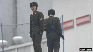 North Korean soldiers, pictured on 21 December 2010