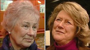 Sylvia Grice (left) and Susan Dudley-Smith