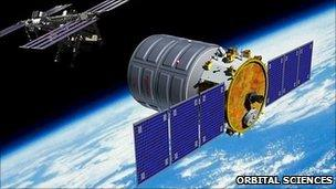 Artist's impression of Cygnus capsule (Orbital Sciences Corp)