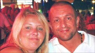 Wayne Amess and partner Christine Campbell