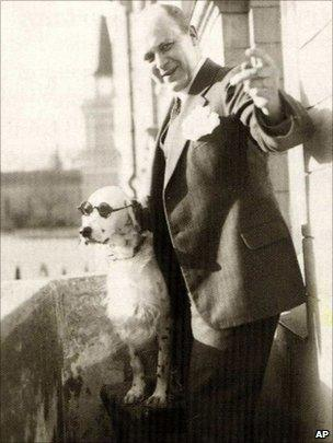 Tor Borg with dog Jackie (undated imageI