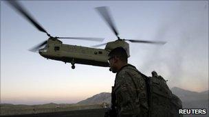 Helicopter carrying Joe Biden lands in Wardak province