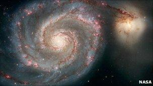 Hubble image of the Whirlpool Galaxy