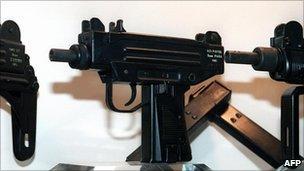 Uzi sub-machine guns