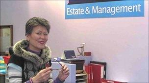 Mrs Jin Hardy of Jin's estate agents