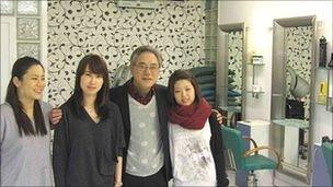 Mr Yong Hoon Kim of the Park Jun Beauty Lab, and his glamorous assistants