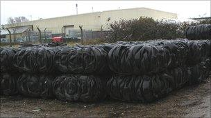 Tyre fraud' arrests signal growing concern on waste - BBC News
