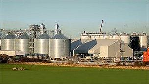 Ensus bioethanol plant, in Wilton