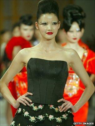 A model at Beijing's Fashion Week