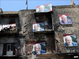 Posters of Najib Mikati in Tripoli (May 2009)