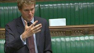 Tristram Hunt in Parliament