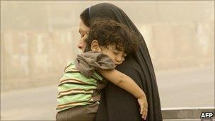 Iraqi woman and child