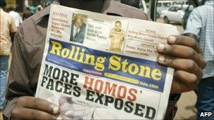 Rolling Stone paper published the names and photos of men it identified as gay