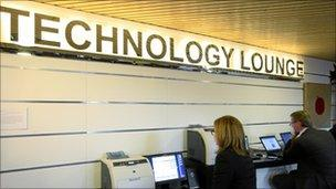 Technology lounge at Davos conference