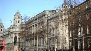 Whitehall buildings