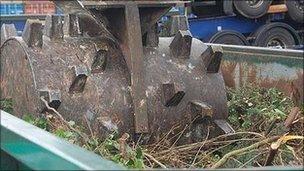 Bin at Felixstowe household waste centre