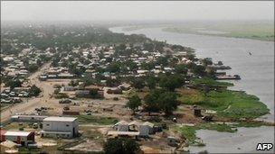 Aerial view of Malakal
