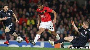 Man Utd v ultimate finalists Bayern Munich in the Champions League 2009/10