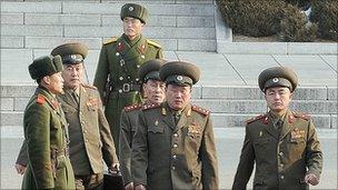 North Korean delegates to the talks