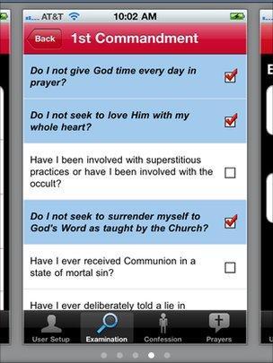 Confession app screenshot