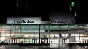 The BBC's new studios in Salford