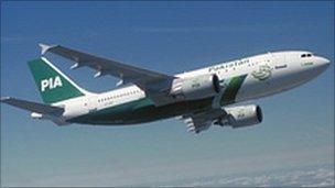 PIA aircraft