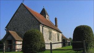 St Hubert's chapel at Idsworth (by John Winfield)