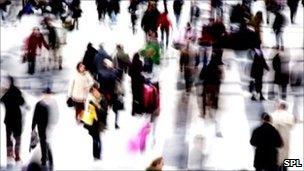 crowded scene