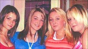 Kayleigh Parry, Katie Roberts, Danielle Caswell, and Louise Jones