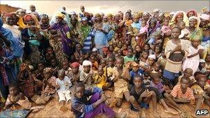 Women and their malnourished children