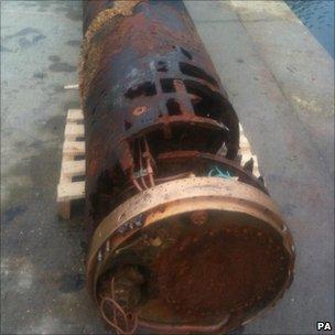 Recovered torpedo