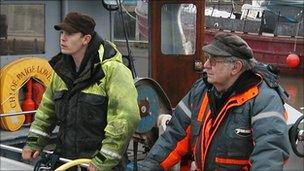 Richard Morgan and Brian Wright on board Chloe-Paige