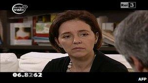 Irina Lucidi speaks on Italian TV channel Rai 3, February