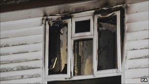 Fire damaged flat