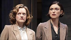 Elisabeth Moss and Keira Knightley in The Children's Hour