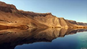Lake in Band-E-Amir National Park